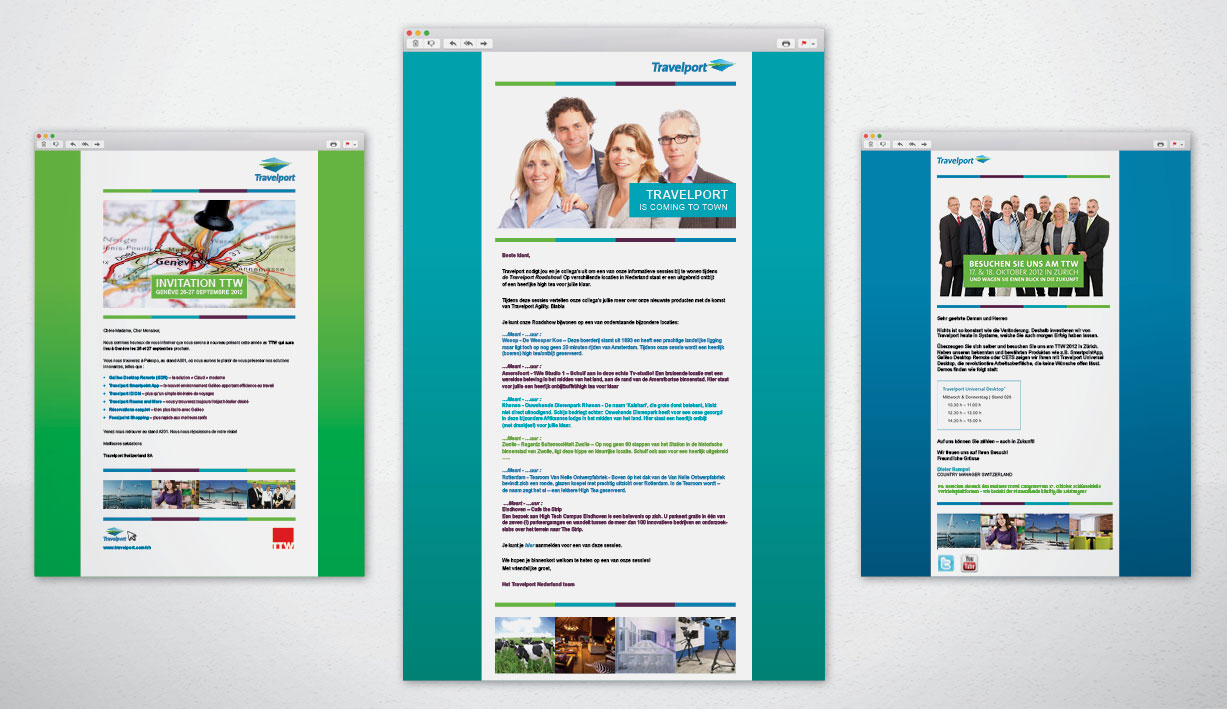 Travelport email campaigns